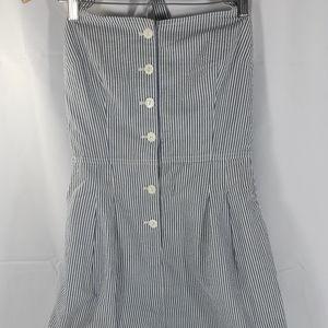 Ralph Lauren Rugby Striped Cotton Overalls Dress